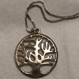 Sterling Silver Tree of Life Women's Necklace